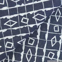 Jean's coton bleu éthnique blanc