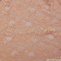 Dentelle polycoton florale rose