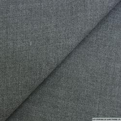 Etamine acrylique gris chiné