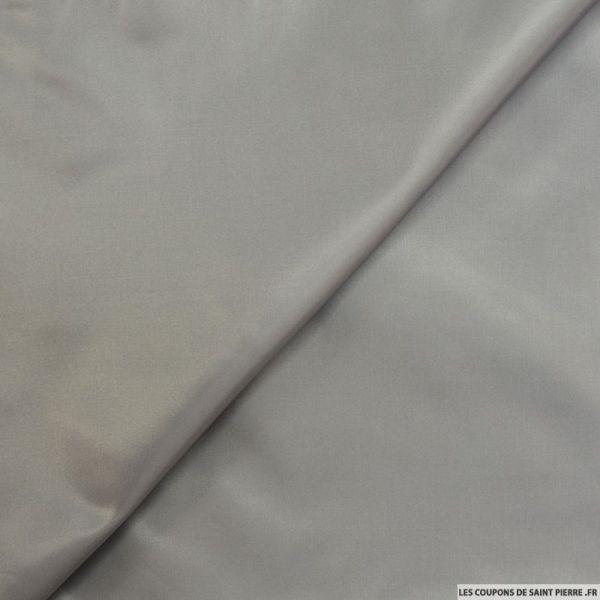 Pongé polyester gris