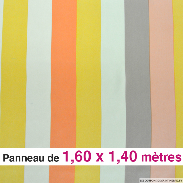 Crêpe de soie rayures valentin , vendu en panneau de 1,60 mètres