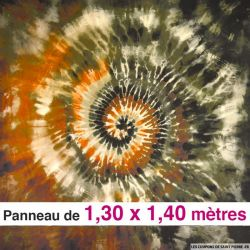 Crêpe de soie tie and dye , vendu en panneau de 1,30 mètres
