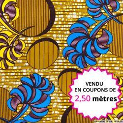Wax africain caramel, vendu en coupon de 2,50 mètres