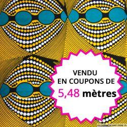 Wax africain kaléidoscope, vendu en coupon de 5,48 mètres