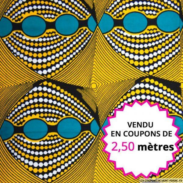 Wax africain kaléidoscope,vendu en coupon de 2,50 mètres