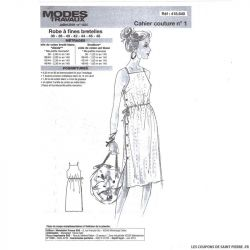 Patron n°418 640 Modes & Travaux - Robe à fines bretelles