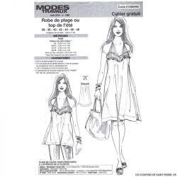Patron robe de plage Modes & Travaux - OFFERT