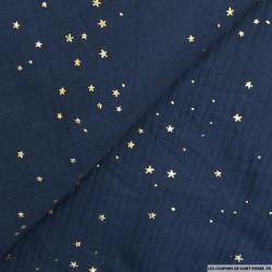 Double gaze marine pluie d'étoiles dorés