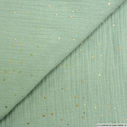 Double gaze jade pluie d'étoiles dorés