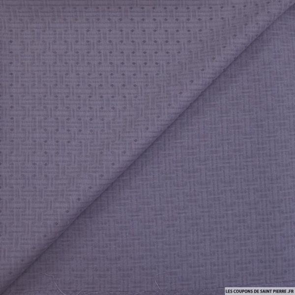 Jacquard acétate viscose fantaisie gris violet