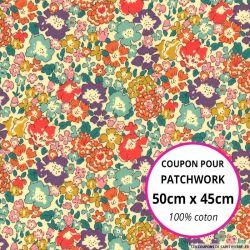 Coton liberty ® Michele multicolore - Coupon 50x45cm