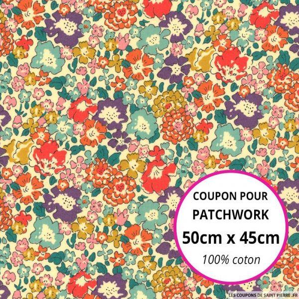 Coton liberty ® Michele multicolore Coupon 50x45cm