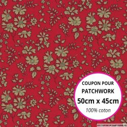 Coton liberty ® Capel rouge Coupon 50x45cm