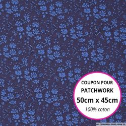 Coton liberty ® Capel bleu Coupon 50x45cm