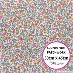 Coton liberty ® Emilia's Bloom rose au mètre
