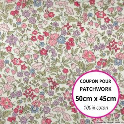 Coton liberty ® Ava rose - Coupon 50x45cm