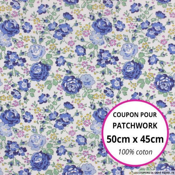 Coton liberty ® New Felicite bleu au mètre