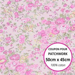 Coton liberty ® Tatum rose - Coupon 50x45cm