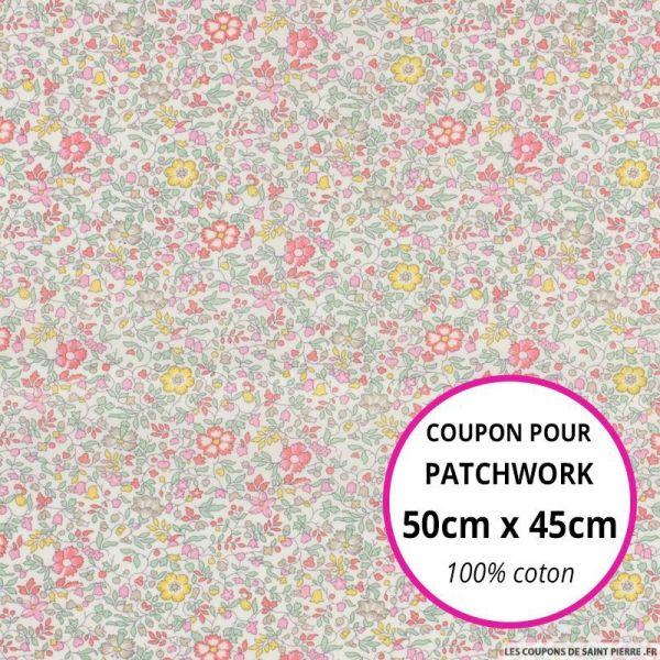 Coton liberty ® Katie Millie pastel Coupon 50x45cm