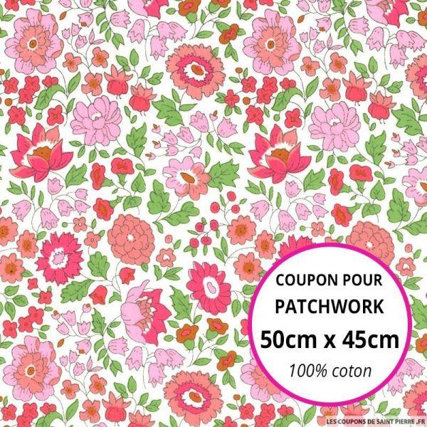 Coton liberty ® D'Anjo rose Coupon 50x45cm