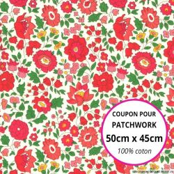 Coton liberty ® D'Anjo grenadine - Coupon 50x45cm