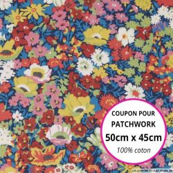 Coton liberty ® Thorpe fleurs de printemps - Coupon 50x45cm