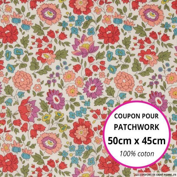 Coton liberty ® D'Anjo summer Coupon 50x45cm