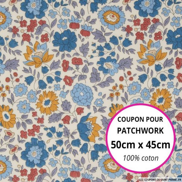 Coton liberty ® D'Anjo yuma Coupon 50x45cm