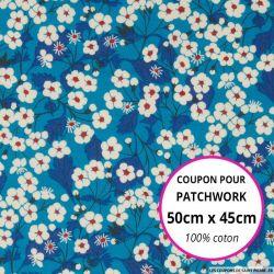 Coton liberty ® Mitsy outremer - Coupon 50x45cm