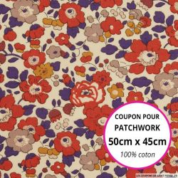 Coton liberty ® Betsy autumn dream - Coupon 50x45cm