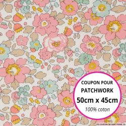 Coton liberty ® Betsy cupcake - Coupon 50x45cm