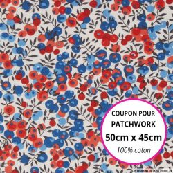 Coton liberty ® Wiltshire marianne - Coupon 50x45cm