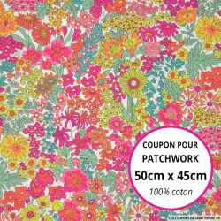 Coton liberty ® Margaret rose - Coupon 50x45cm