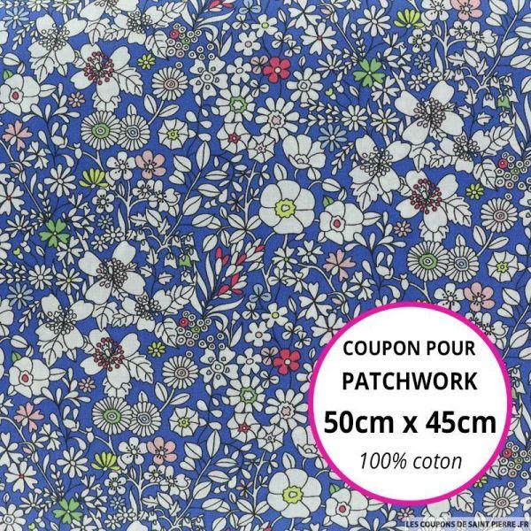 Coton liberty ® June's meadow bleu Coupon 50x45cm