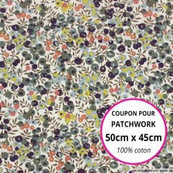 Coton liberty ® Wiltshire vert olive - Coupon 50x45cm