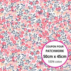 Coton liberty ® Wiltshire rose - Coupon 50x45cm