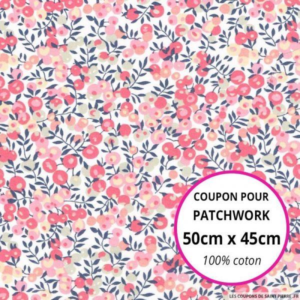 Coton liberty ® Wiltshire rose Coupon 50x45cm