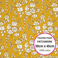 Coton liberty ® Capel moutarde Coupon 50x45cm