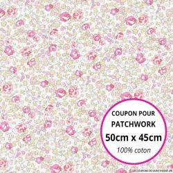 Coton liberty ® Eloise classique rose - Coupon 50x45cm