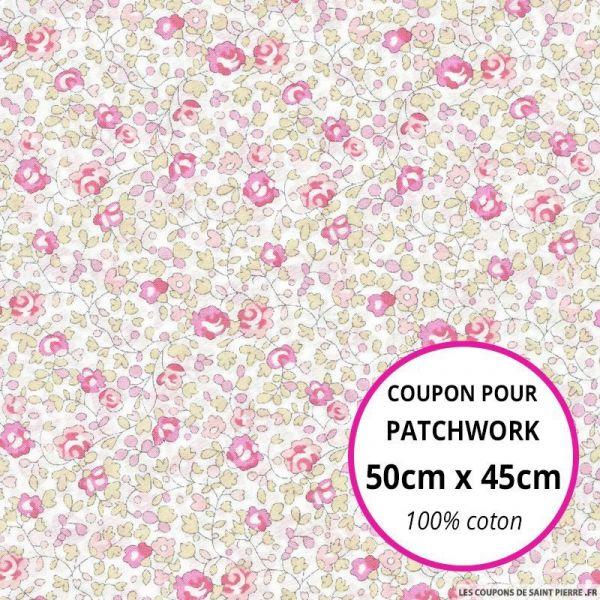Coton liberty ® Eloise classique rose Coupon 50x45cm