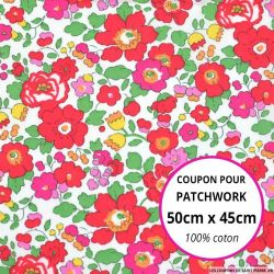 Coton liberty ® Betsy grenadine Coupon 50x45cm