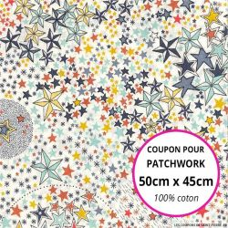Coton liberty ® Adelajda multicolore Coupon 50x45cm