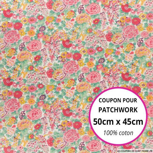 Coton liberty ® Elysian day - Coupon 50x45cm