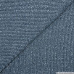 Maille côtelée lurex bleu jeans