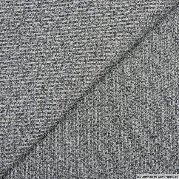 Maille côtelée lurex gris chiné