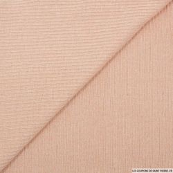 Maille côtelée lurex rose poudre