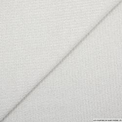 Maille côtelée lurex blanc