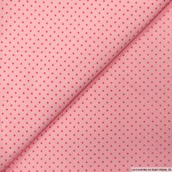 Coton imprimé étoile fond rose
