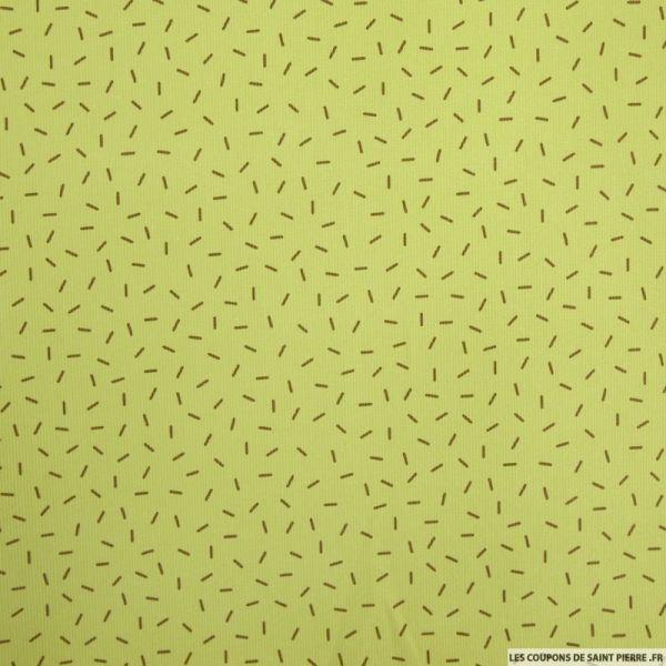 Piqué de coton imprimé feux d'artifice vert et bleu fond blanc