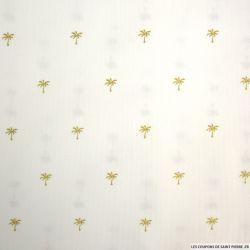 Piqué de coton imprimé palmier doré